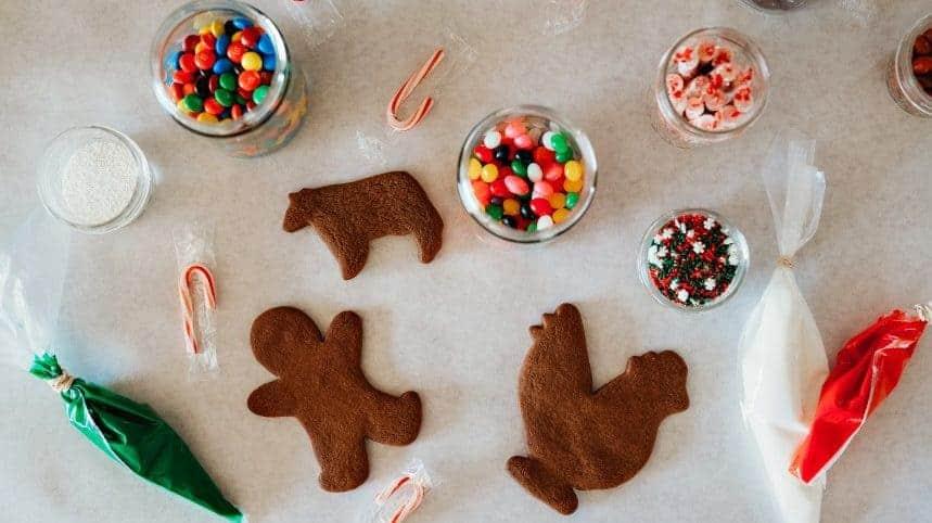 Gingerbread farm animals