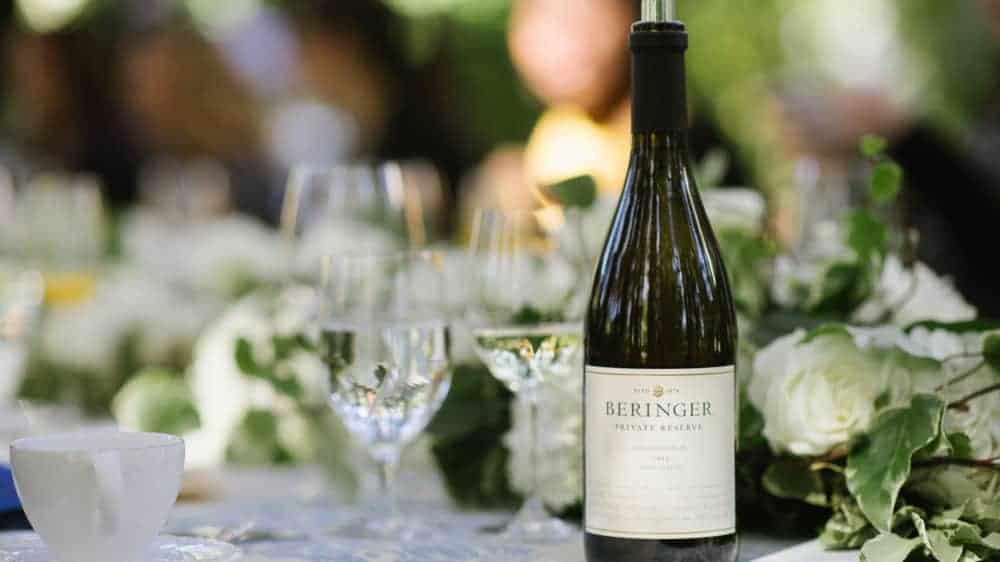 Beringer wine and glass