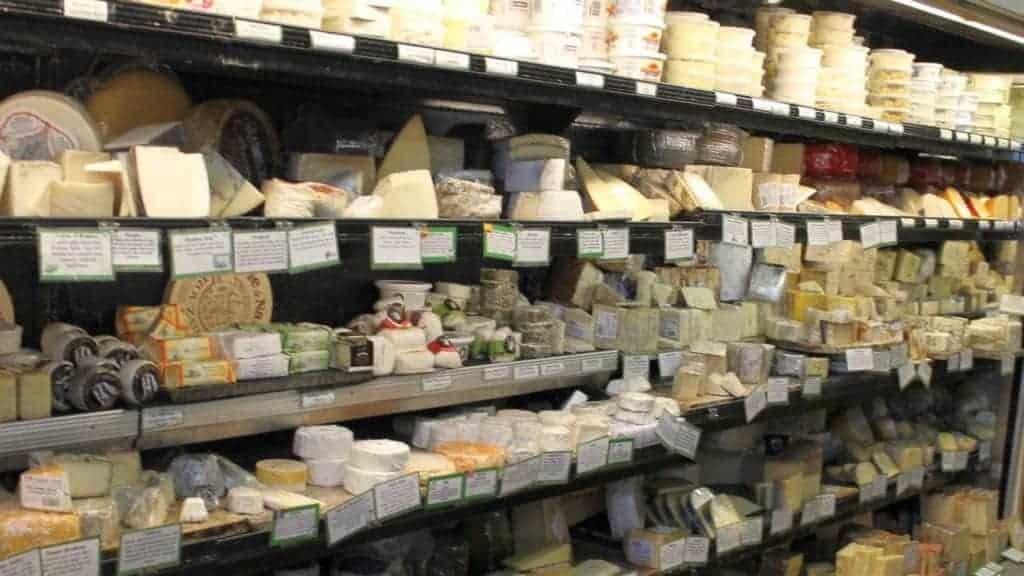 Sunshine Food Market cheese shelves