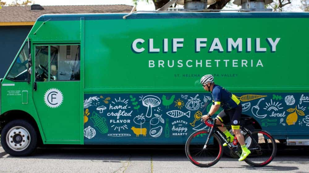 Clif family Bruschetteria with bike