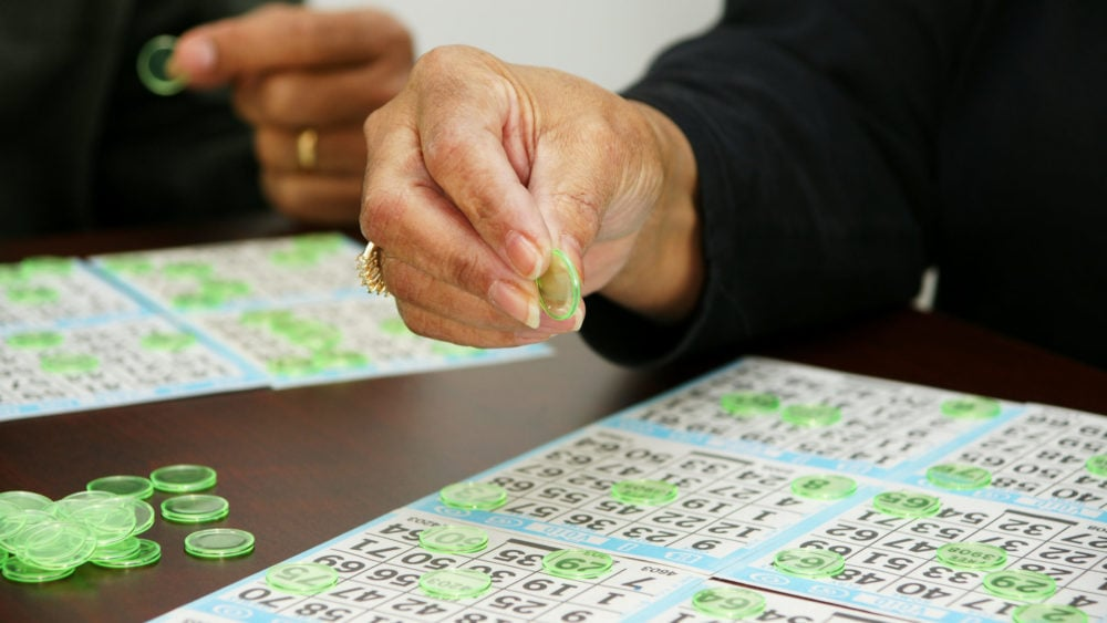Person playing bingo
