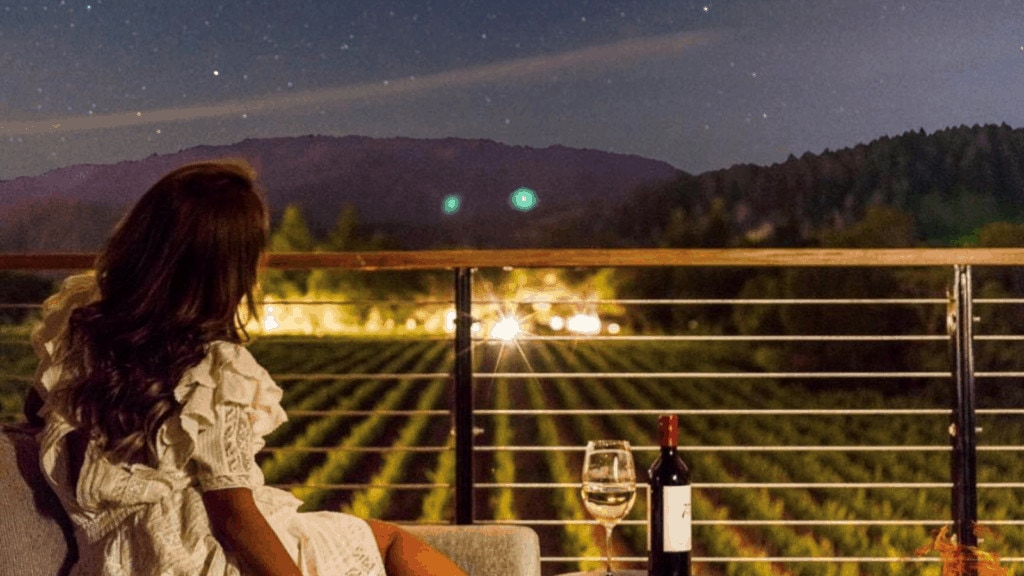 girl and wine and stars