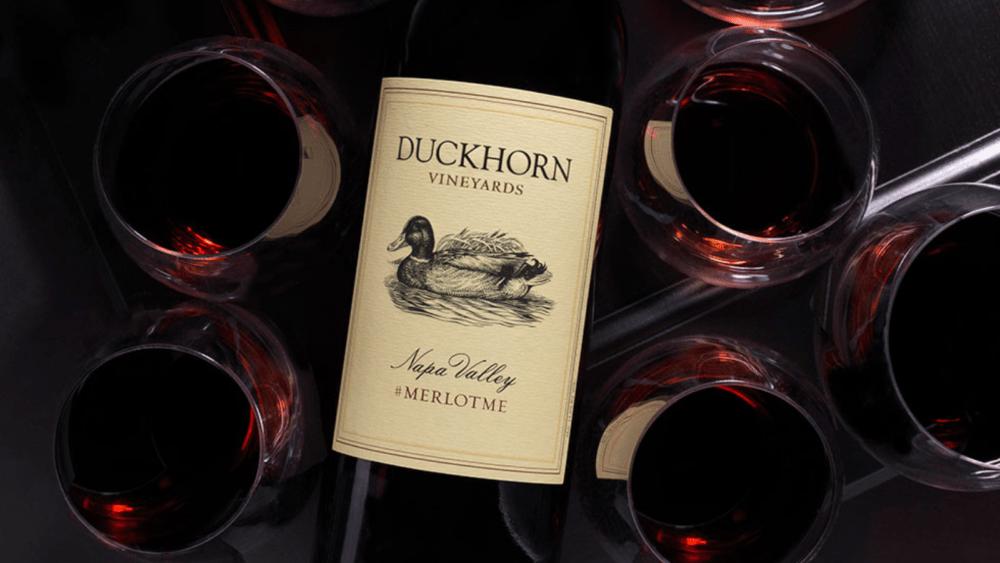 Duckhorn merlot bottle