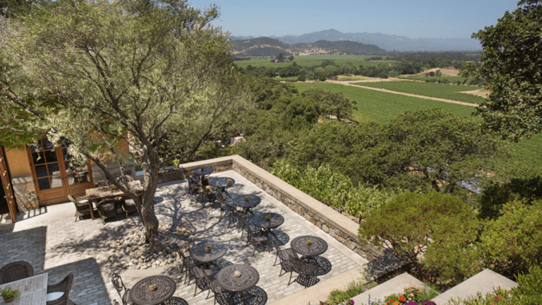 Silverado Vineyards terrace